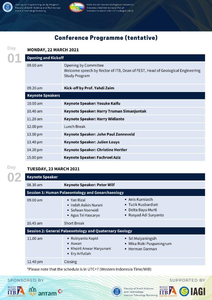 Conference program (tentative)