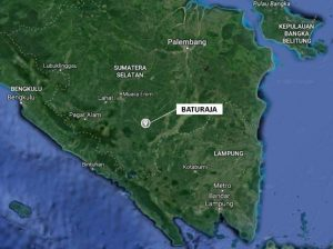 Gambar 3a. Lokasi daerah Baturaja, Sumatra Selatan