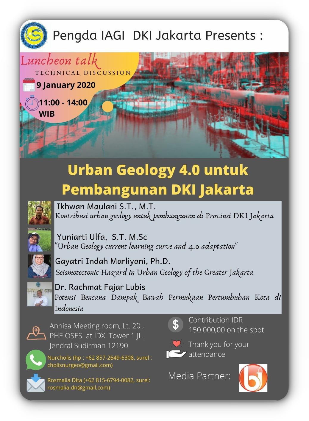 Urban Geology 4.0 untuk Pembangunan DKI Jakarta