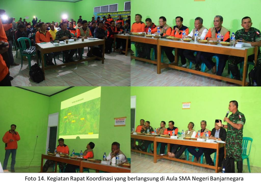 Kegiatan rapat koordiansi yang berlangsung di aula SMA NEgeri Banjarnegara