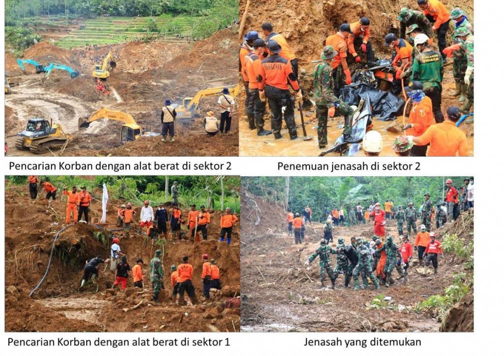 Kegiatan Evakuasi Korban Longsor Dusun Jemblung