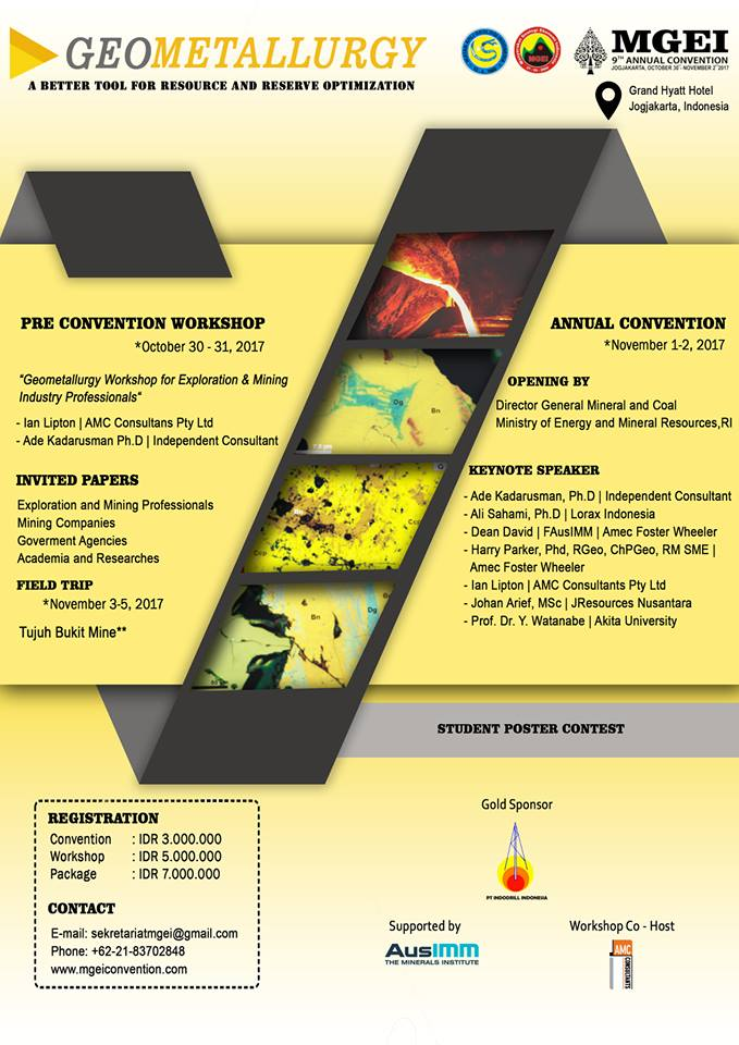 MGEI Geometalurgy Convention 2017 flyer1