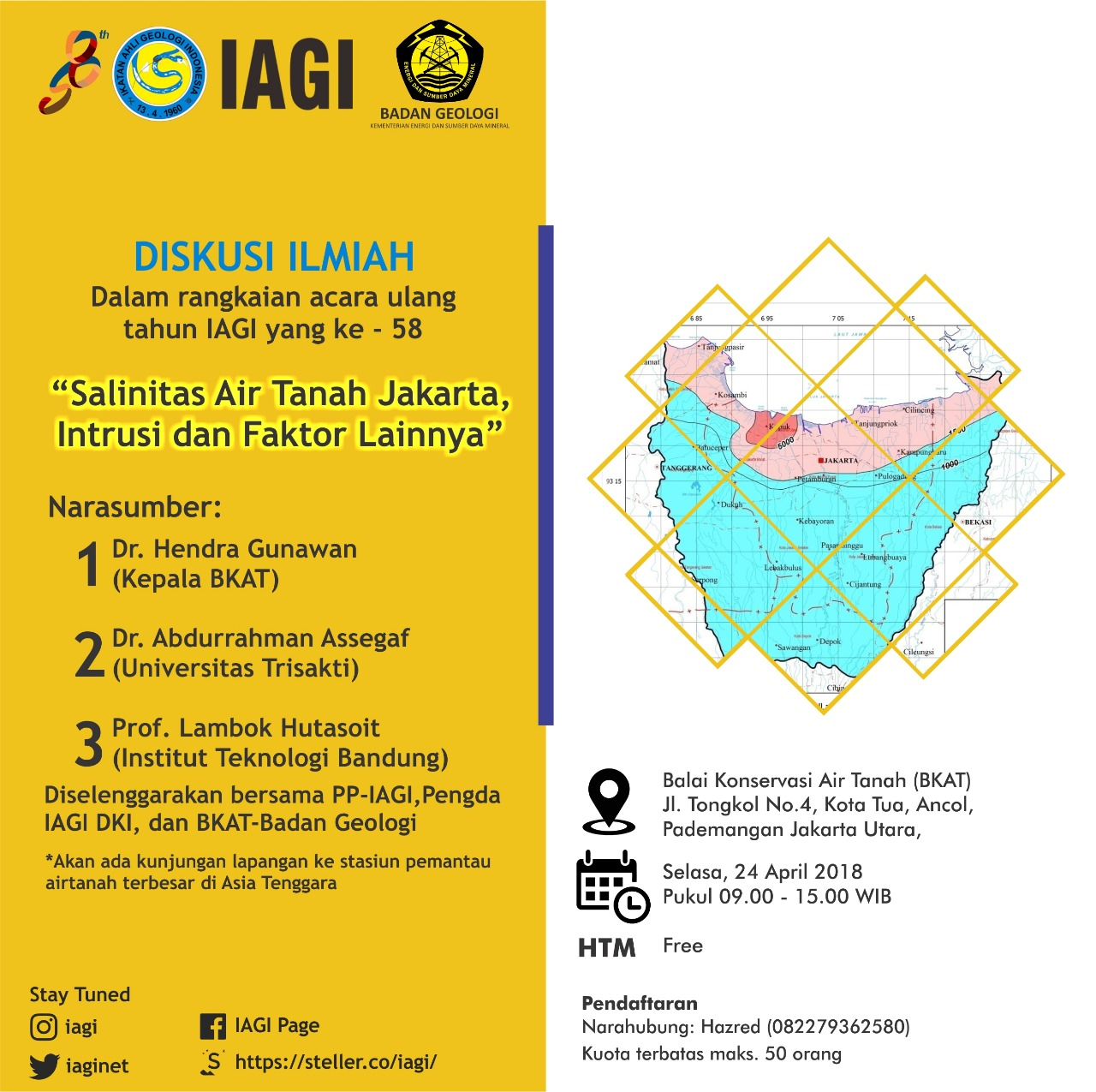 Diskusi Ilmiah salinitas air tanah Jakarta