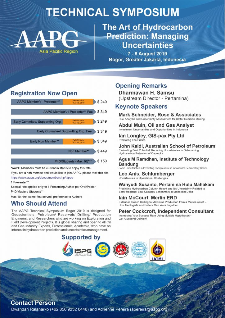 AAPG Technical Symposium 2019 Registration Open